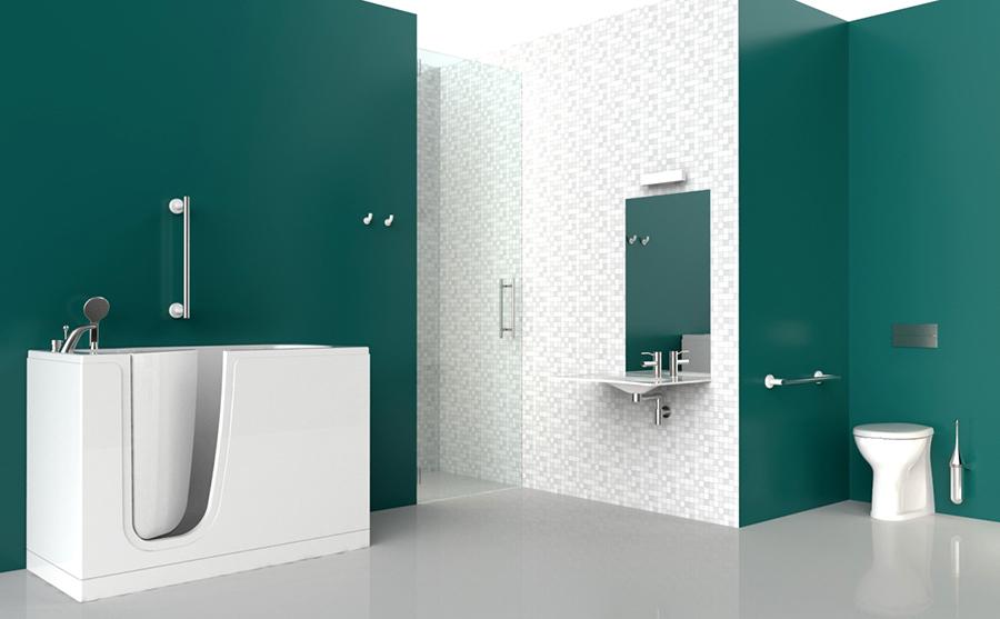 baignoires avec porte. Black Bedroom Furniture Sets. Home Design Ideas