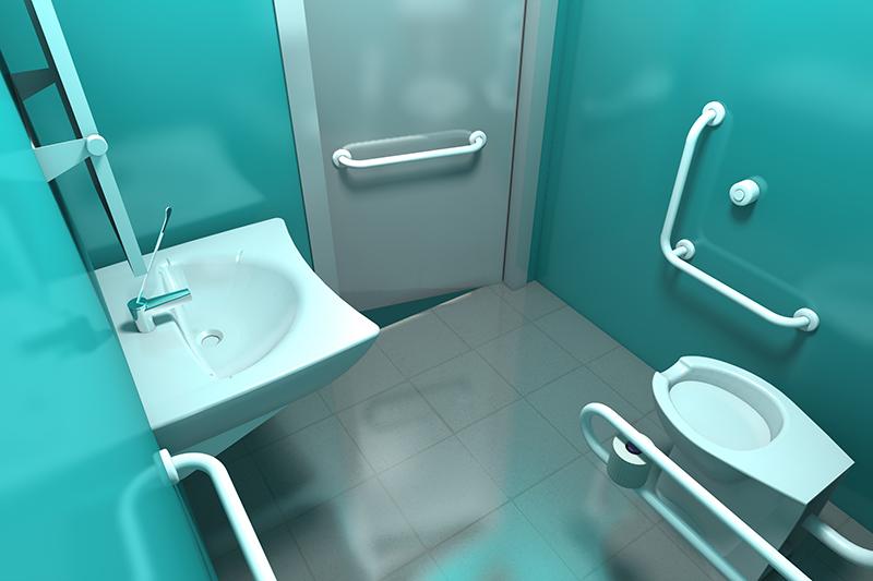 Salle de bains pour handicap es vaste gamme d accessoires for Porte wc pmr