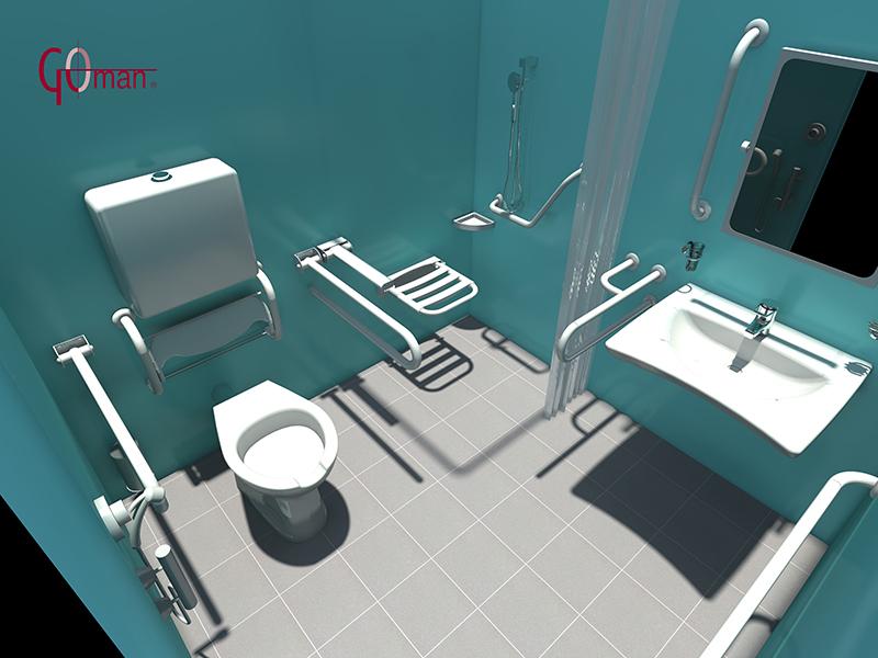 projeter une salle de bains am nag e pour pmr en 3d dwg. Black Bedroom Furniture Sets. Home Design Ideas