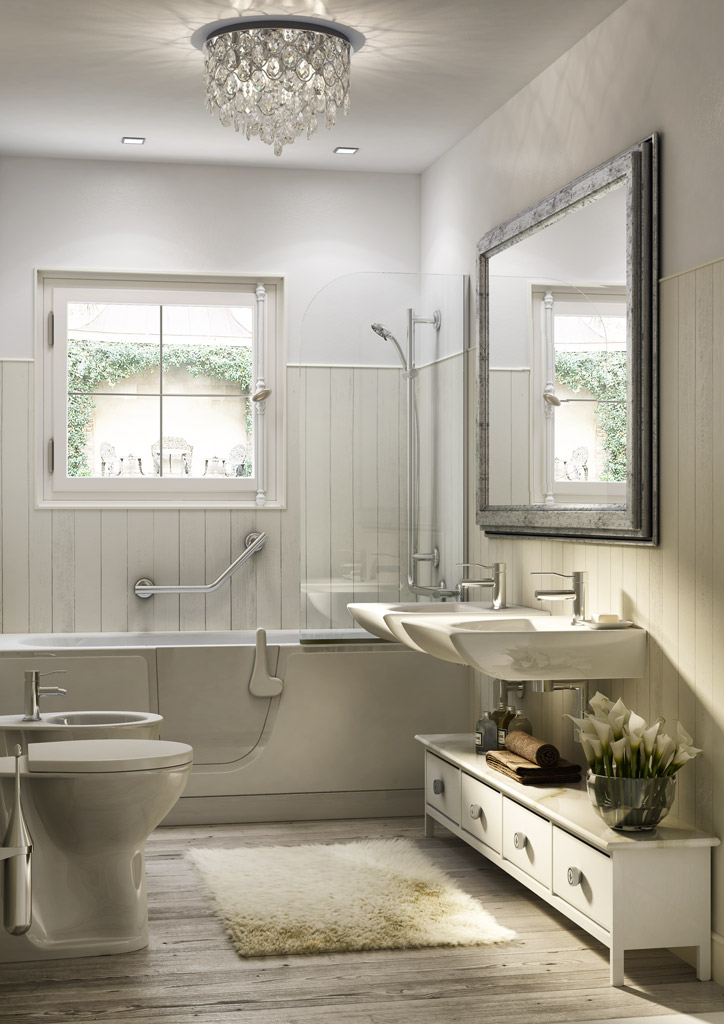 salle de bains de design shebby chic