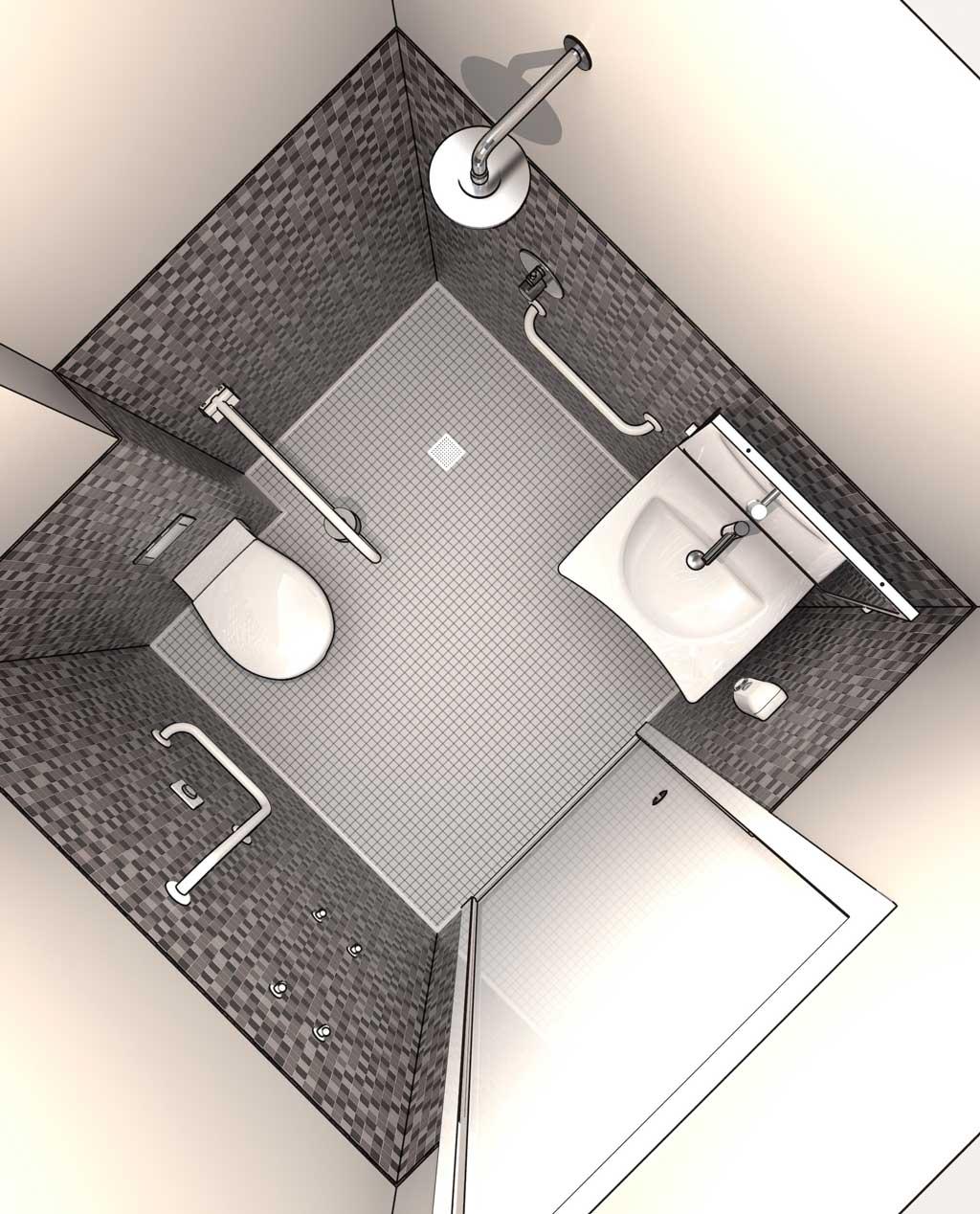 Salle De Bain Lumineuse Design ~ Projeter Une Salle De Bains Am Nag E Pour Pmr En 3d Dwg