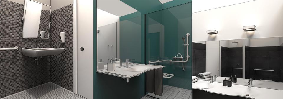 Projeter une salle de bains aménagée pour PMR en 3D/DWG