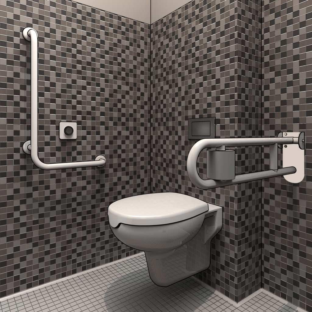 Salle De Bain Amenagee Handicap ~ projeter une salle de bains am nag e pour pmr en 3d dwg