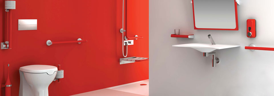salle de bain pour personne mobilit r duite vaste gamme d accessoires d aide. Black Bedroom Furniture Sets. Home Design Ideas